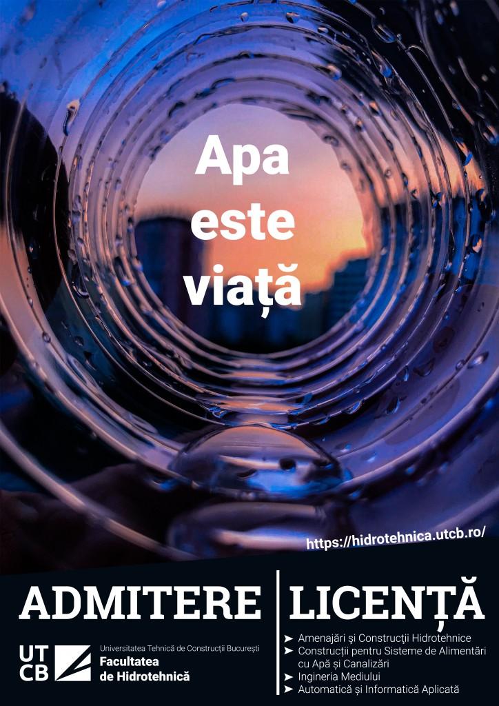 Poster admitere HIDRO Licenta